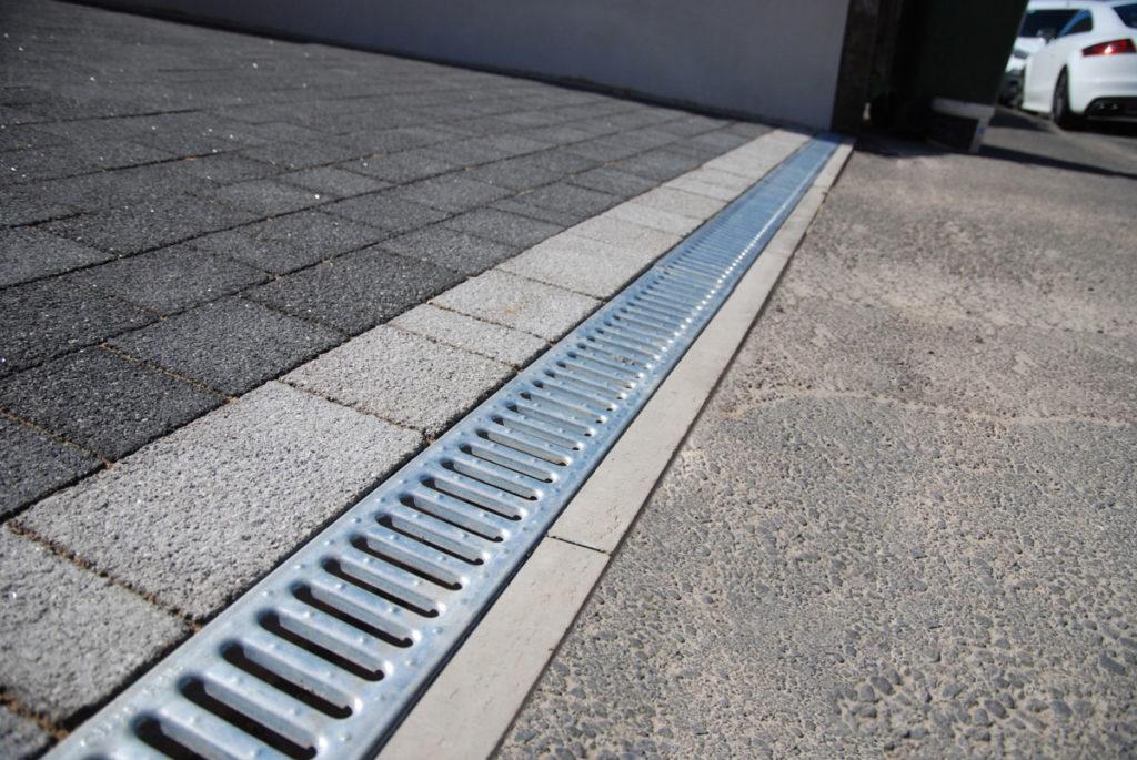 patio gutter drainage